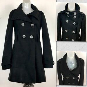 Zara Trafaluc wool Black Coat